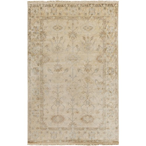 Surya ATQ-1010 Hand Knotted Classic Accent Rug, 2-Feet by 3-Feet