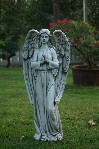 Hi-Line Gift 75600 Angel Standing Statue44; Polished Stone