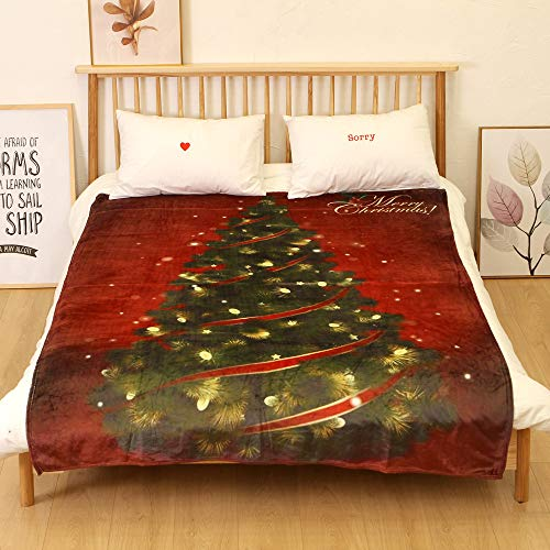 Christmas Throw Blanket Christmas Theme Series Super Soft Cozy Blanket 150x200CM Warm Flannel Fleece Winter Lightweight Reversible Christmas Throws - Fleece Throw Series