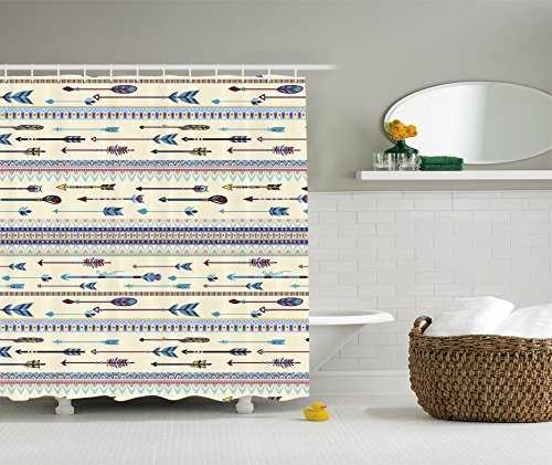 Ambesonne Collection Patterns Indigenous Polyester