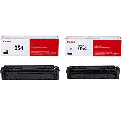 4-Pack Included Black BK+C+Y+M Yellow Compatible High Yield CRG-054H Cartridge 054H Toner Cartridge use for Canon Color imageCLASS LBP620 LBP622Cdw Printer Cyan Magenta