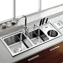 Luxury crossover with trash can stainless steel sink kitchen sink