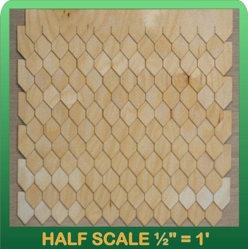 "Greenleaf Doll Houses 1/2"" Scale Miniature Diamond Shingle Strips Half Scale"