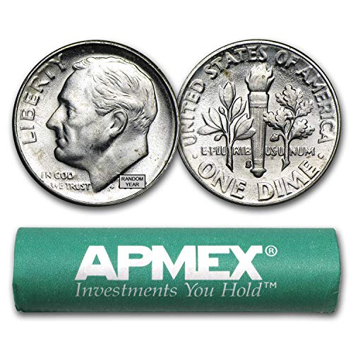 Gorgeous Original Unpicked Gem BU Roll of 50 1959 D Roosevelt Dimes PQ Coins 90/%