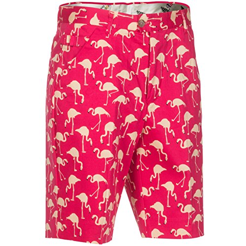 (Royal & Awesome Birdie Breeks Patterned Mens Golf Shorts)
