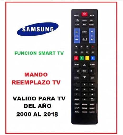 Mando para televisores Samsung 2000-2018: Amazon.es: Electrónica