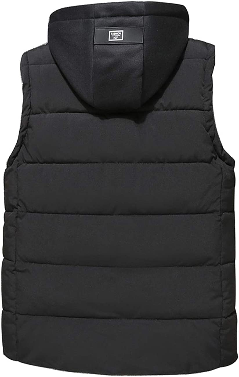 Zoulee New Womens or Mens Outdoor Padded Body Warmer Cotton Vest Hooded Removable