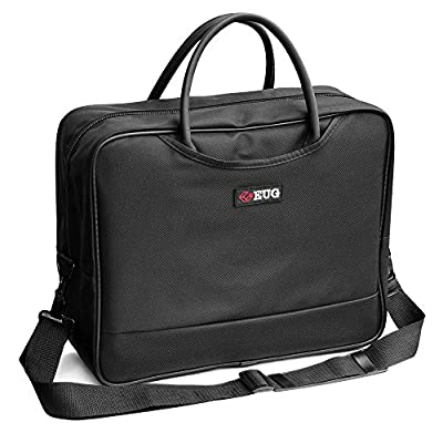 Universal Projector Carrying Case Large Laptop Travel Bag with Detachable Shoulder Strap - 14x12x5 inch - for Optoma HD142X, ViewSonic PJD7828HDL, Epson EX3240 and More Travel Projectors