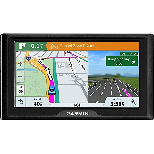 Garmin Drive 61 USA LM GPS Navigator System with Lifetime Maps, Spoken Turn-By-Turn Directions, Direct Access, Driver Alerts, TripAdvisor and Foursquare Data (Renewed) (Best Value Garmin Gps 2019)