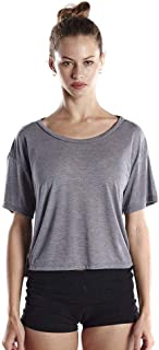 product image for US Blanks Ladies' 4.2 oz. Boxy Open Neck Top, Heather Grey, Small