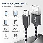 GERETIN-Cavo-Micro-USB-3-Pezzi1m2m2m-Cavo-USB-Micro-USB-Nylon-Intrecciato-Rapida-Trasferimento-Dati-Compatibile-con-Android-Samsung-S7-S6-J5-J7HuaweiNexusLGSonyHTCKindleXiaomi-NeroGrigio