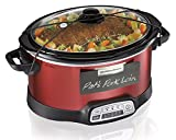 5 quart programmable crock pot - Hamilton Beach Programmable Slow Cooker, 5-Quart with Lid Latch Strap & Chalkboard Panels, Red (33551)