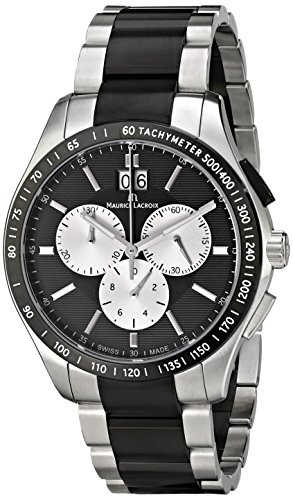 Maurice Lacroix Men's MI1028-SS002-331 Miros Analog Display Analog Quartz Silver Watch