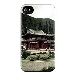 Iphone 4/4s Case Cover - Slim Fit Tpu Protector Shock Absorbent Case (byudo In Temple)
