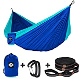 """Weight Supported: 600 pounds   Features: Heavy-duty, Comfortable, Breathable!   Package included: 1x Hammock (118"""" x 78""""),                   2x Tree Straps (Per length 9'),                   2 x AluminumCarabiner..."""