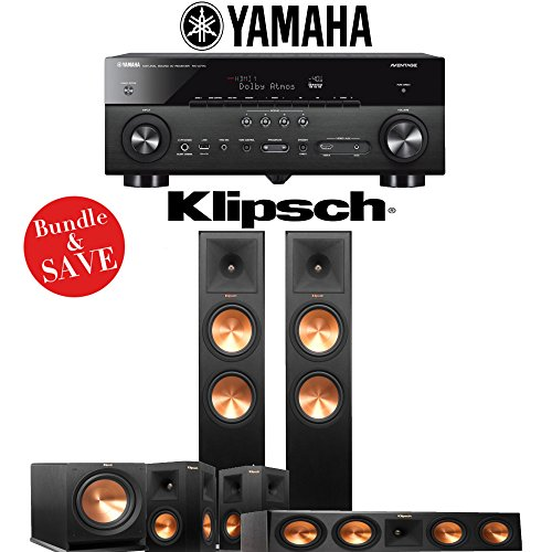 Klipsch RP-280F 5.1-Ch Reference Premiere Home Theater System with Yamaha AVENTAGE RX-A770BL 7.2-Channel Network A/V Receiver by Klipsch