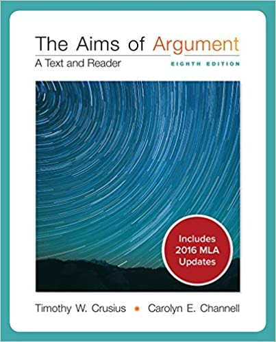 Sell aims of argument: text and reader textbook (isbn# 0073326178.