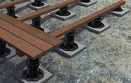 einstellbar 40-70 mm 52 St/ück Stelzlager f/ür Terrassen aus Holz//WPC//BPC