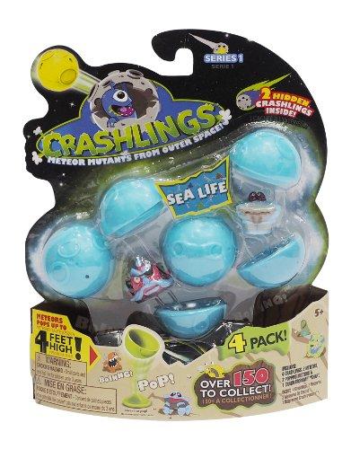 Crashlings Series 1 4 Pack-Sea Life - Random Selection (Protective Shuffle Silicone Case)