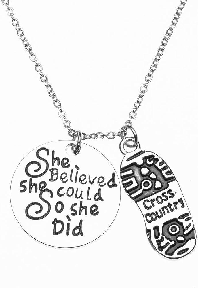 Running Jewelry Runner She Believed She Could So She Did Sneaker Bracelet Marathon Runner Gift for Women Teens and Girls