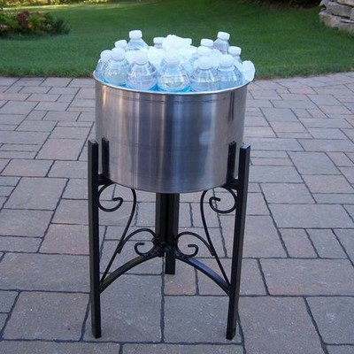 Oakland 91002-HB Living Stainless Steel Ice Bucket and St...