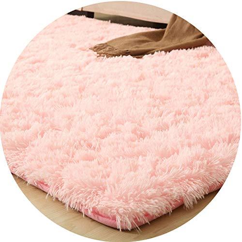 le Carpet Thicker Bathroom Non-Slip Mat Area Rug for Living Room Soft Child Bedroom Mat,Pink Carpet,80x120cm ()