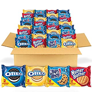 OREO Original, OREO Golden, CHIPS AHOY! & Nutter Butter Cookie Snacks Variety Pack, Halloween Treats, 56 Snack Packs (2 Cookies Per Pack)