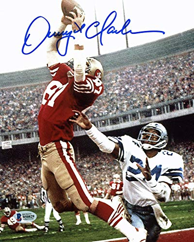 49ers Dwight Clark Authentic Autographed Signed 8x10 Vertical Photo Of The Catch Bas - Certified Authentic