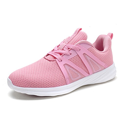DREAM PAIRS Women's Pink Athletic Walking Shoes C0191_W Size 10 M US