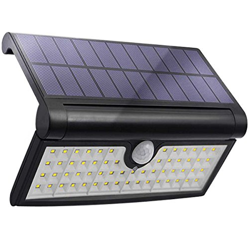 Solar Lights Outdoor 58 LED Motion Sensor Wall Light