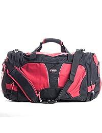 CalPak Field Pak 20-inch Travel Carry On Duffel Bag, Black/Red, One Size