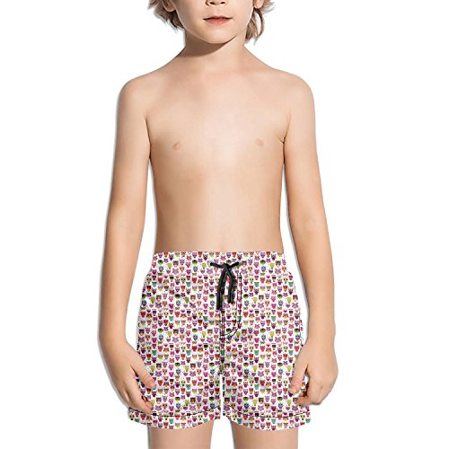 Bird Scaring Balloon - Websi Wihey Boy's Quick Dry Swim Trunks Cute Owl Fashione Shorts