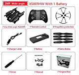 XS809W XS809HW Quadcopter Mini Foldable SDrone with WiFi FPV 0.3MP or 2MP Camera