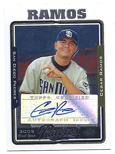 CESAR RAMOS 2005 Topps Chrome Update #UH236 AUTOGRAPH Rookie Card RC Los Angeles Angels of Anaheim Baseball
