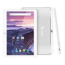 Yuntab 10.1 inch Unlocked 3G Wifi Tablet PC Quad Core Android 5.1 Lollipop MTK 16G Smart Phone 2G 3G Wifi Google Tablet IPS 1280X800 Bluetooth GPS Alloy Metal back Cellphone (Silver)