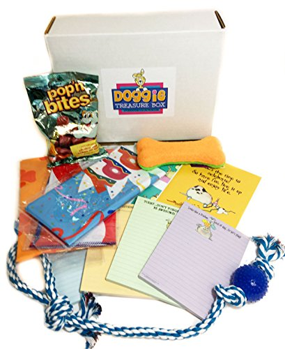 Ultimate Dog Gift Box For The Dog Lover - Dog Gift Set - Toys, Treats, Bandana's, Dog Themed Cards and Pads
