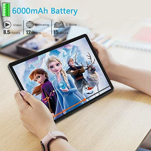 Tablet 10 Inch Android 9.0 Quad Core HD Touchscreen Tablets with Dual Sim Card, 32GB ROM 128GB Expand, WiFi, Bluetooth, GPS, Google Certified Tablet PC, Support 3G Phone Call (Black)