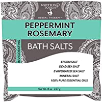 (240ml, Peppermint Rosemary) - Soothing Touch Bath Salts Pouch, Peppermint Rosemary, 240ml