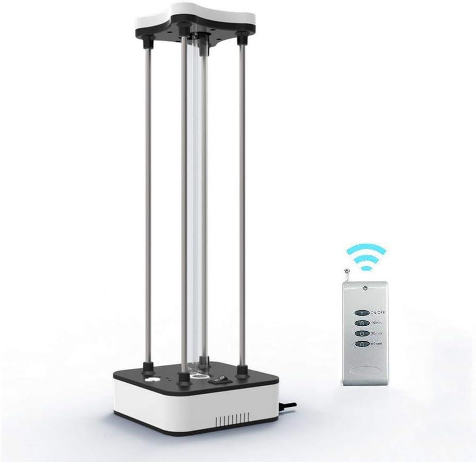 CJSWT Lámpara 36W 110V desinfección UV con ozono, purificador de Aire UV-C móvil habitación esterilizador de luz del Mando a Distancia: Amazon.es: Hogar