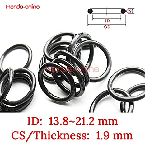 Thickness: 1.9mm, Inner Diameter: 13.8mm Ochoos NBR Rubber Ring ID 13.8 14 14.2 14.8 15 15.2 15.8 16 16.2 16.8 17.2 17.8 18.2 18.7 18.8 19.2 19.8 20 20.2 21.2 mm X 1.9mm Seals