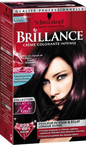 schwarzkopf brillance coloration permanente eclat de nuit noir violine 898 amazonfr hygine et soins du corps - Coloration Violine Rouge