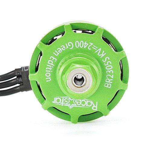 4X Racerstar 2305 BR2305S Green Edition 2400KV 2-5S Brushless Motor For 210 220