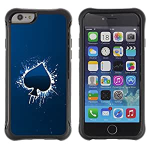 BullDog Case@ Cool Blue Ace Of Spade Rugged Hybrid Armor Slim Protection Case Cover Shell For iphone 6 6S CASE Cover ,iphone 6 4.7 case,iphone 6 cover ,Cases for iphone 6S 4.7
