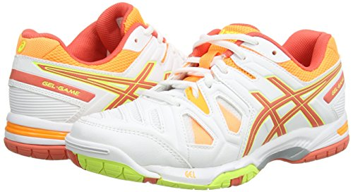 Scarpe nectarine Bianco Asics 0106 Coral 5 game hot Sportive Donna white Gel aavtwq6