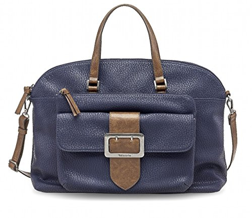 Tamaris LEE Business Bag, Borsa bowling donna blu Blau 42 x 31 x 12 cm (BxHxT)