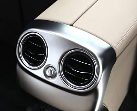 for Mercedes Benz W205 C Class 2015-2018 NOT for Mercedes Benz C300 2015 ABS Chrome Plastic Car Accessories Rear Air Conditioning Outlet Vent Cover Trim Matte Silver