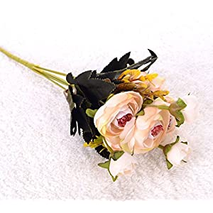 1pc, Fake Silk Camellia Artificial Flowers for Decoration Home Decorative Simulation Flower Wedding Decor 12