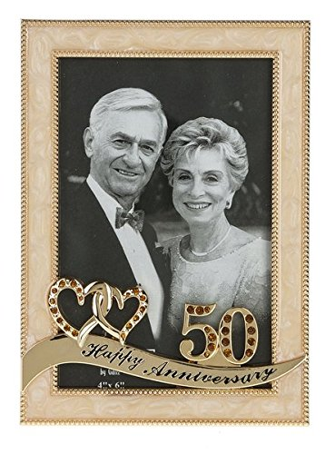 Ganz 50th Anniversary Frame, multi, 4x6