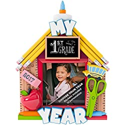 Hallmark Keepsake - School Days Picture Frame Personalization Dated Christmas Ornament