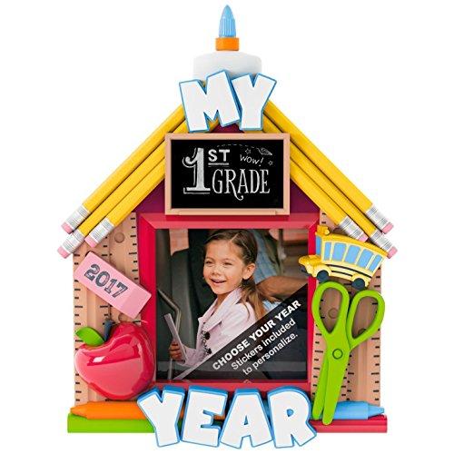 Hallmark Keepsake 2017 School Days Picture Frame Personalization Dated Christmas Ornament